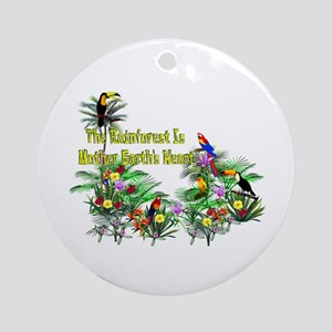 Mother Earth's Heart Round Ornament