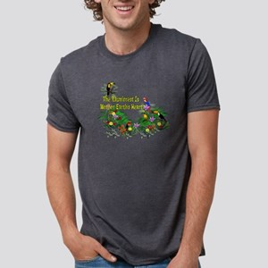 Mother Earth's Heart Mens Tri-blend T-Shirt