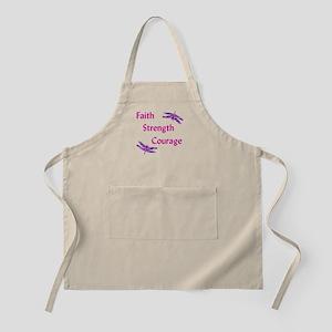 Faith Strength Courage Apron