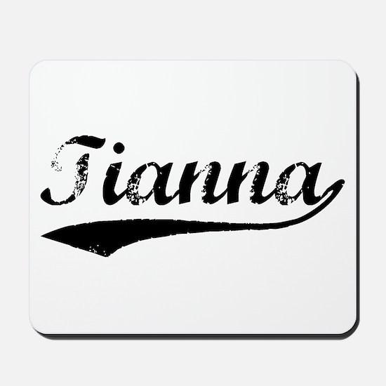 Vintage Tianna (Black) Mousepad
