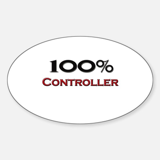 100 Percent Controller Oval Decal