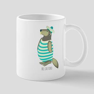 Nice Beaver Bel Castoro Beaver Vintage Swimsu Mugs