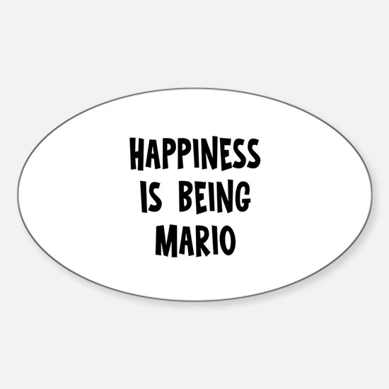 Happiness is being Mario Oval Decal