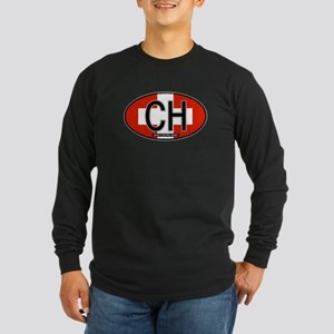 Switzerland Colors Long Sleeve Dark T-Shirt