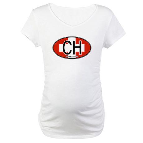 Switzerland Colors Maternity T-Shirt