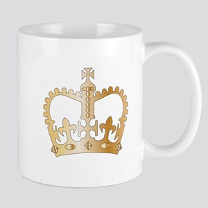 Golden Isolated Crown Mugs