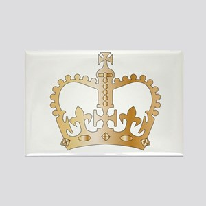 Golden Isolated Crown Magnets