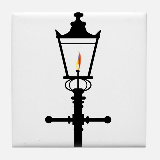 Victorian Isolated Gaslight Tile Coaster