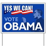 Yes We Can - Vote Obama Yard Sign
