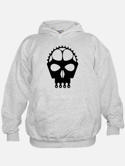 Chain Ring Skull Hoodie