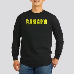 Bamako Faded (Gold) Long Sleeve Dark T-Shirt