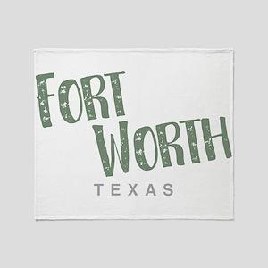 Fort Worth Texas Throw Blanket