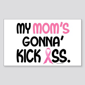 Gonna' Kick Ass 1 (Mom) Rectangle Sticker
