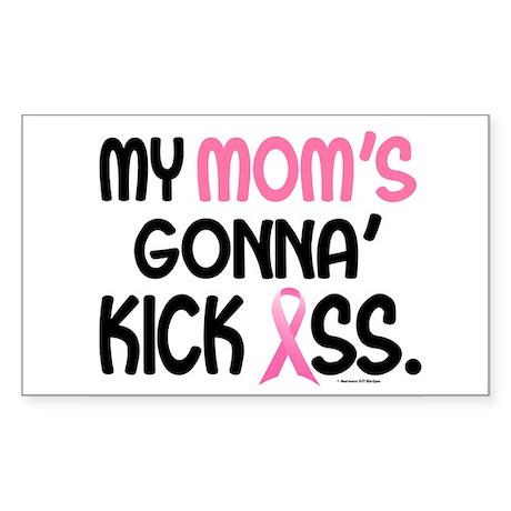 Gonna' Kick Ass 1 (Mom) Rectangle Sticker