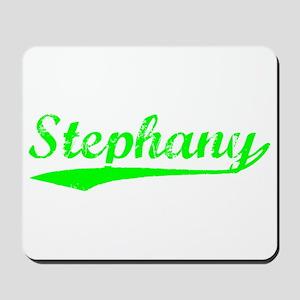 Vintage Stephany (Green) Mousepad