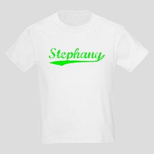 Vintage Stephany (Green) Kids Light T-Shirt