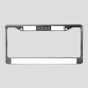 Anti-liberal License Plate Frame