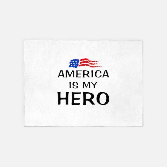 America is my hero 5'x7'Area Rug
