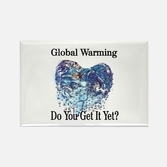 Global Warming Rectangle Magnet (100 pack)