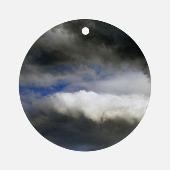 Storm Clouds Ornament (Round)