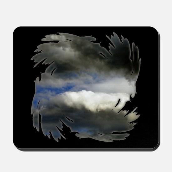 Storm Clouds Black Mousepad