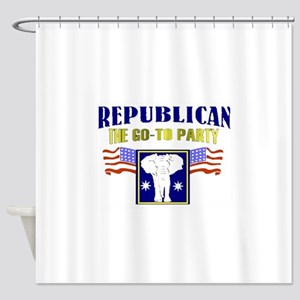 Republican Party Shower Curtain