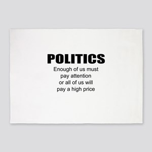 Political attention 5'x7'Area Rug