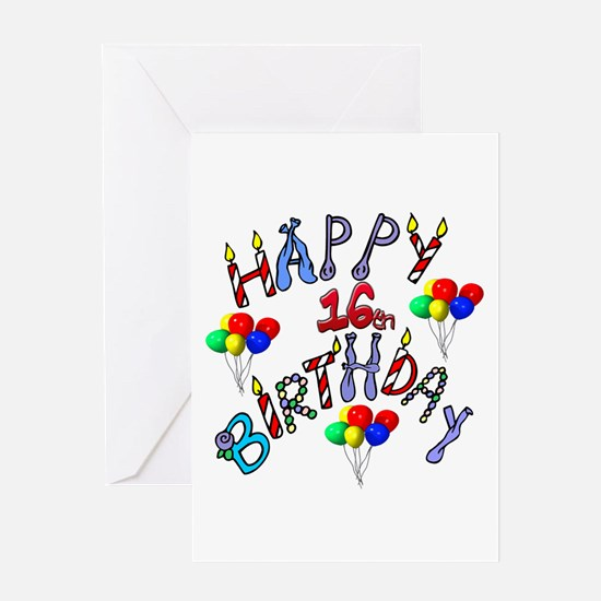 Happy 16th birthday Greeting Card