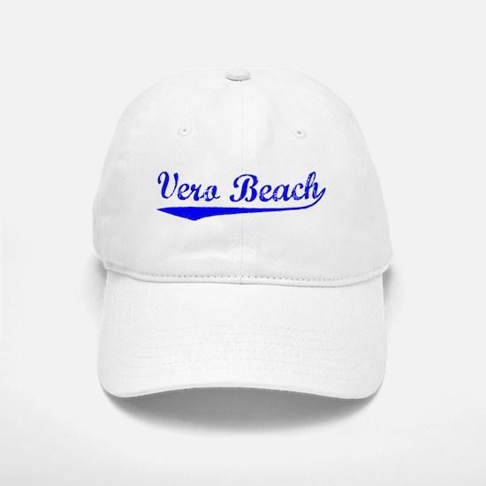 Vintage Vero Beach (Blue) Baseball Baseball Cap