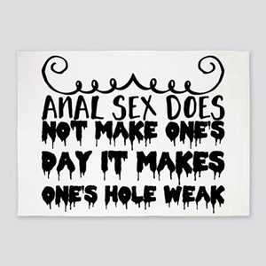 Anal sex does not make one's day it 5'x7'Area Rug
