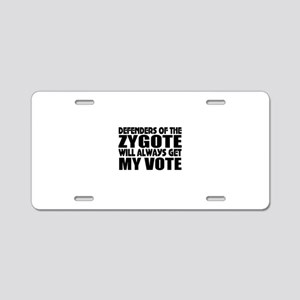 Anti-abortion Aluminum License Plate