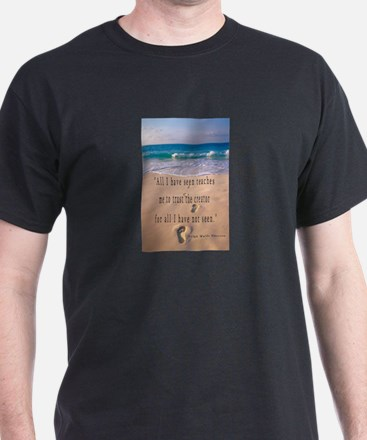 Footprints in Sand-Emerson T-Shirt