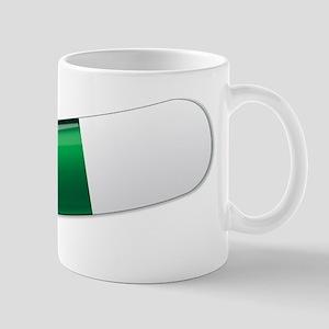Green And White Capsule Mugs