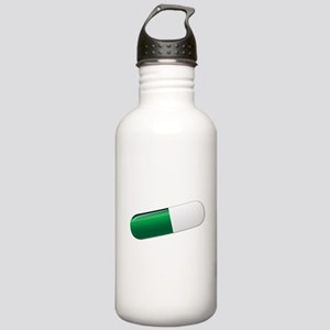 Green And White Capsul Stainless Water Bottle 1.0L