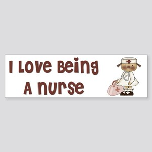 I Love Being A Nursse Sticker (Bumper)