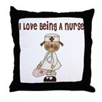 I Love Being A Nursse Throw Pillow