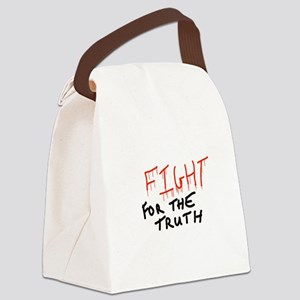 Fight for the truth Canvas Lunch Bag