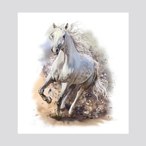 White Horse Gallop 8x10 Photo to Canvas