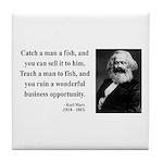 Karl Marx 4 Tile Coaster