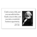 Karl Marx 4 Rectangle Sticker