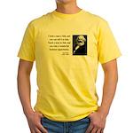 Karl Marx 4 Yellow T-Shirt