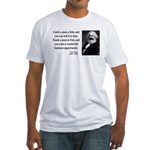 Karl Marx 4 Fitted T-Shirt