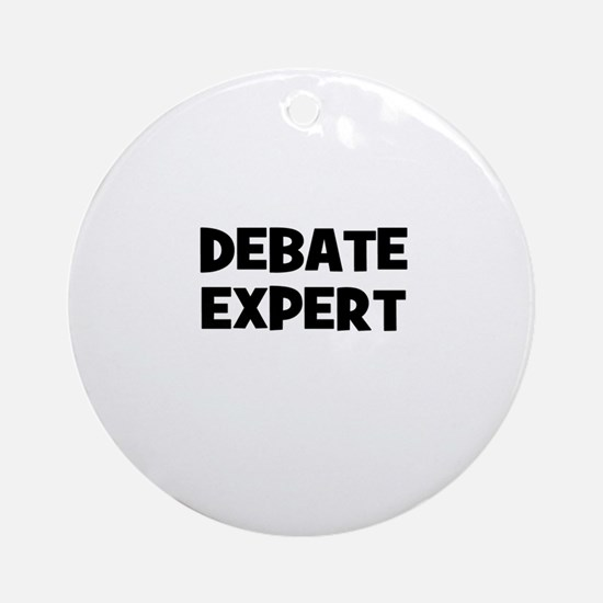 Debate Expert Ornament (Round)