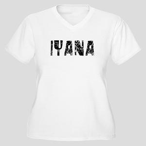 Iyana Faded (Black) Women's Plus Size V-Neck T-Shi