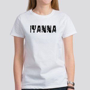 Iyanna Faded (Black) Women's T-Shirt