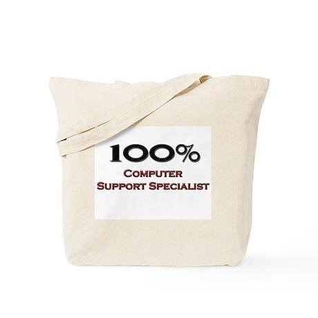 100 Percent Computer Support Specialist Tote Bag
