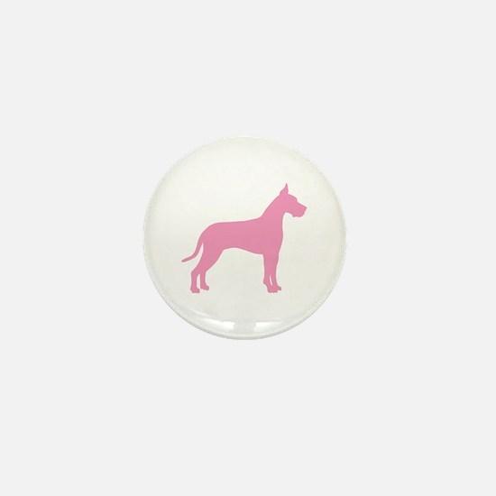 Pink Great Dane Mini Button