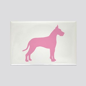 Pink Great Dane Rectangle Magnet