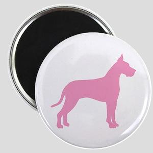 Pink Great Dane Magnet