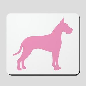 Pink Great Dane Mousepad